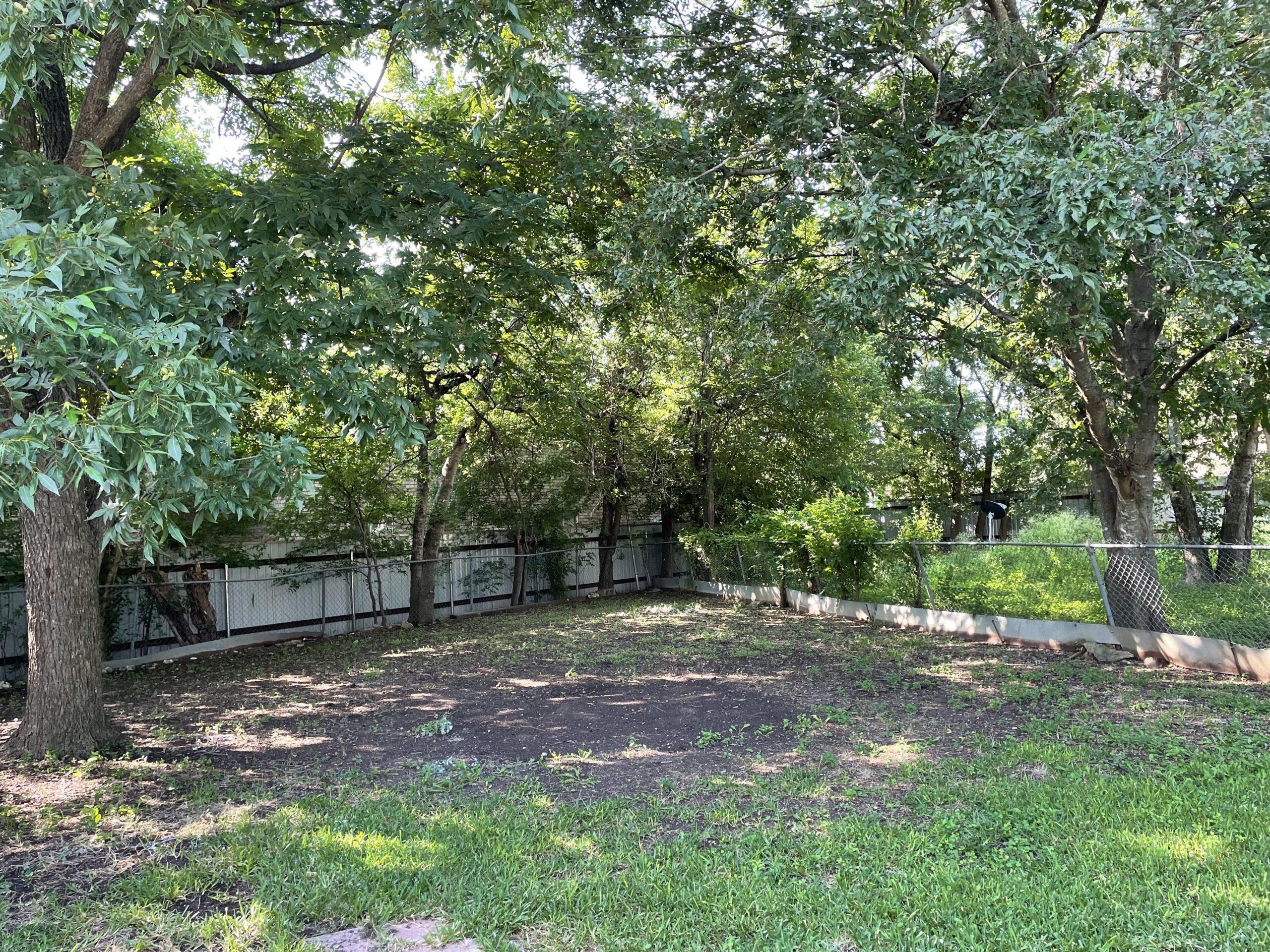 1206 Sissom - Back yard